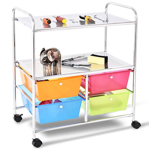 4 Drawers Rolling Storage Cart