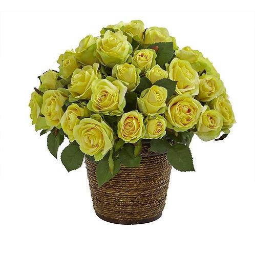 Rose Artificial Arrangement in Basket