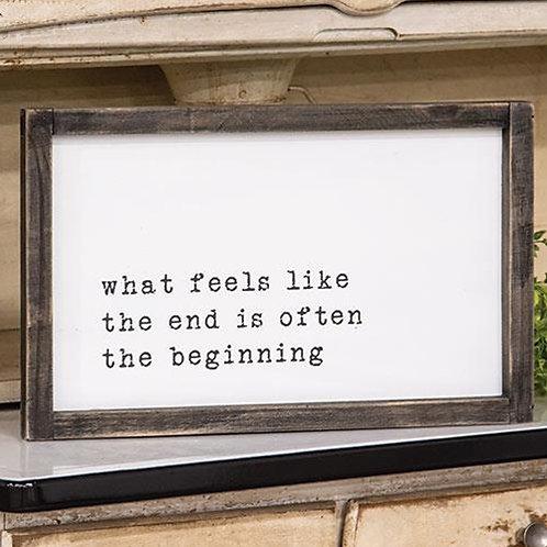 The Beginning Framed Sign