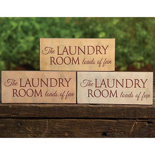 *Laundry Room Sign Small 3 Asstd.