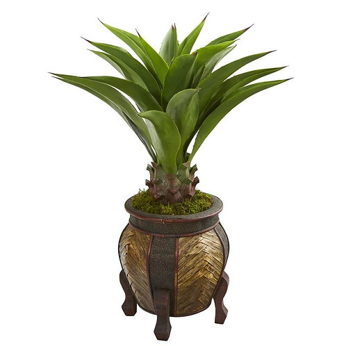 "40""  Agave Artificial Plant in Decorative Planter"