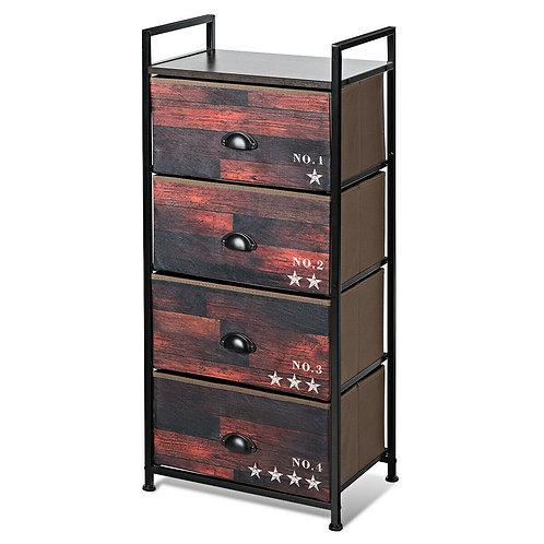 4 Drawer Fabric Dresser Storage Tower Nightstand