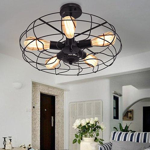 5-Light Vintage Metal Hanging Ceiling Light