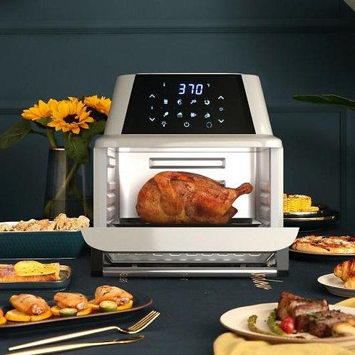 19 QT Multi-functional Air Fryer Oven 1800W Dehydrator Rotisserie-White