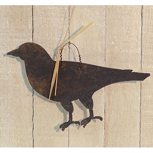 Crow Metal Ornament