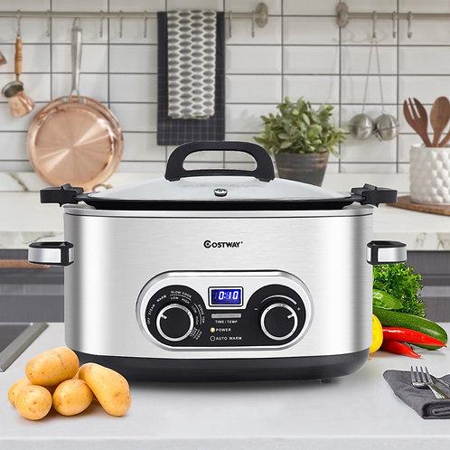 4-in-1 6 Quart Stainless Multi Cooker