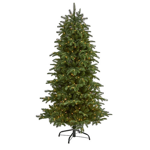 6' South Carolina Fir Artificial Christmas Tree w 450 Clear Lights