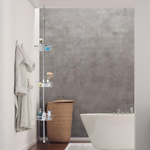 3-Tier Stainless Steel Adjustable Corner Shower Storage Shelf