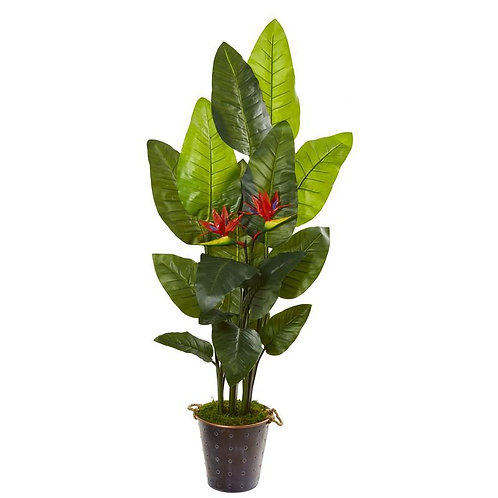 "75""  Bird of Paradise Artificial Plant in Planter (Real Touch)"