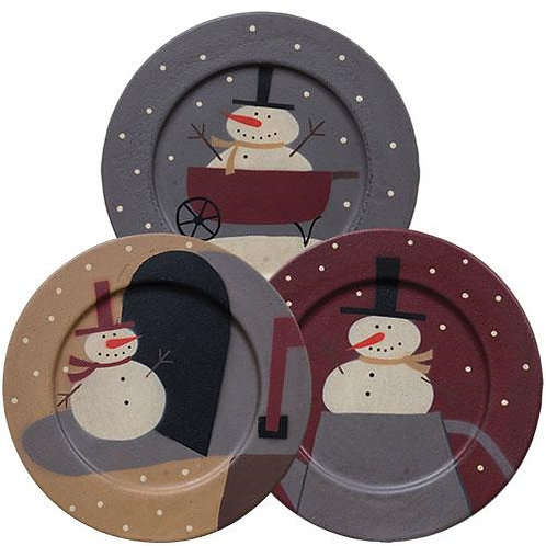 Pack of 2 *Sneaky Snowman Plate Asst.