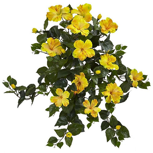 "24"" Hibiscus Hanging Artificial Plant (Set of 2)"
