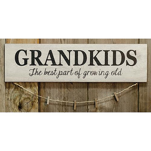 Pack of 2 Grandkids Sign w/Clothespins
