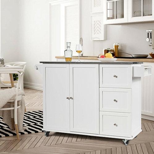 Kitchen Island 2-Door Storage Cabinet