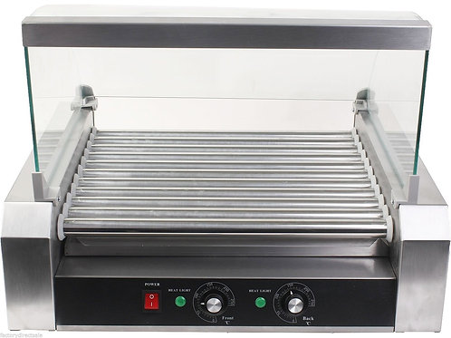 Commercial 30 Hot Dog 11 Roller Grill Cooker Machine