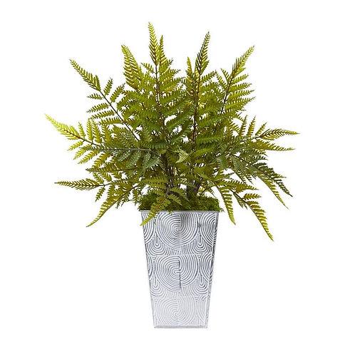 "15""  Fern Artificial Plant in Planter"
