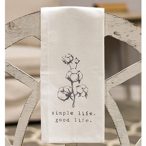 """*Simple Life Tea Towel 19"""" x 28"""""""