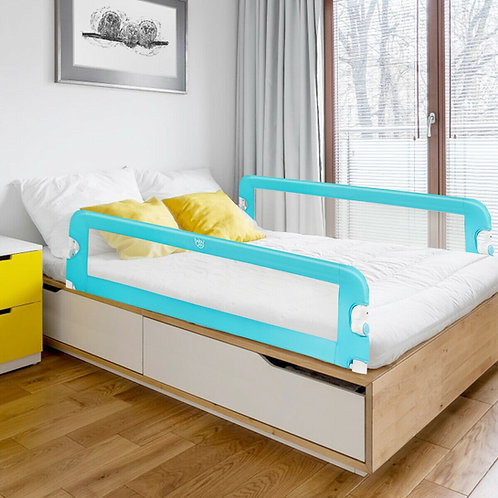 59-Inch Extra Long Bed Rail Guard-Blue