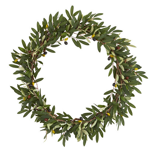 """23"""" Olive Artificial Wreath"""