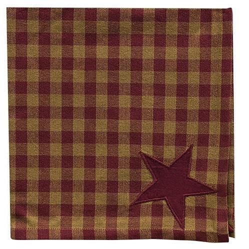 "*6/Set Burgundy Star Napkins 20"""