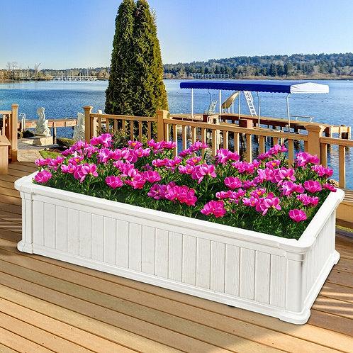 2 PCS Raised Garden Rectangle Plant Box-White