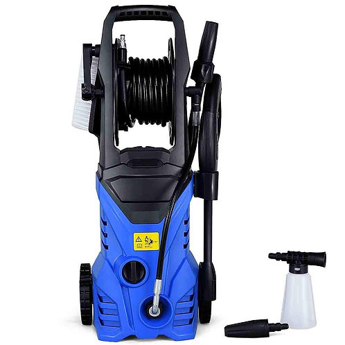 1800W 2030PSI Electric Pressure Washer Cleaner with Hose Reel-Blue