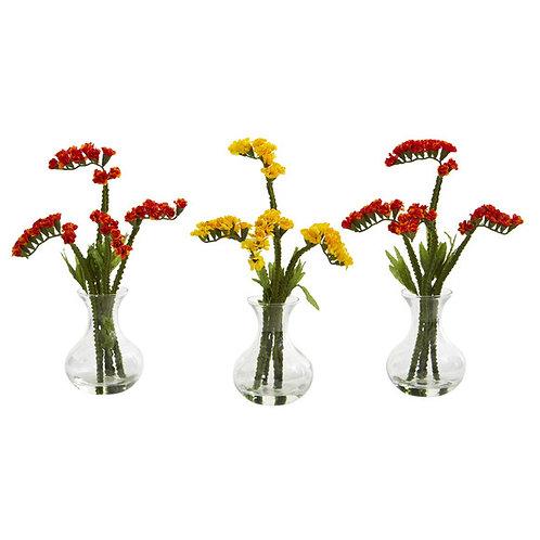 """10"""" Baby Breath Artificial Arrangement in Vase (Set of 3)"""