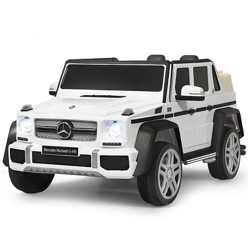 12V Licensed Mercedes-Benz G650 Kids Ride On Car-White