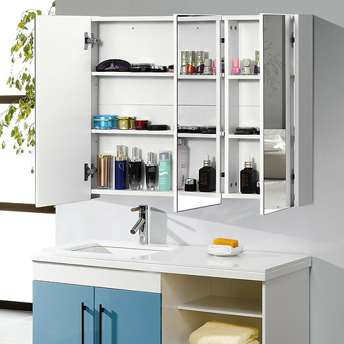 "36"" Bathroom Medicine Cabinet with 3 Mirrors"