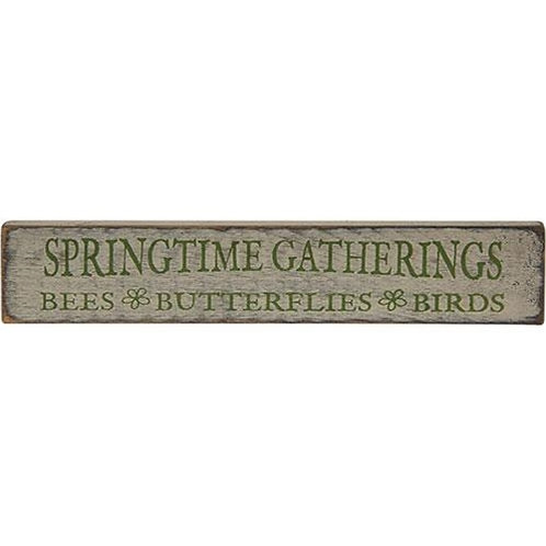 Springtime Gatherings Sign