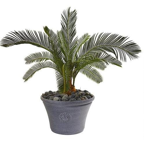 "25""  Cycas Artificial Plant in Decorative Planter"