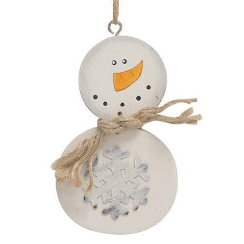 Buffalo Check Snowman Ornament 3 asstd.