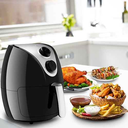 1500W Electric Air Fryer Cooker with Rapid Air Circulation System Low-Fat-White