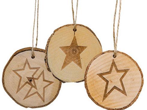 Pack of 4 Tree Tag Star 3 Asstd.