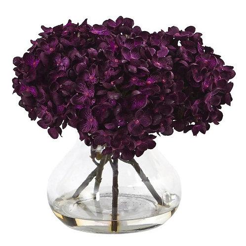 Hydrangea with Vase Silk Flower Arrangement