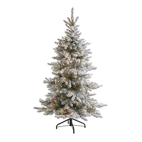 7' Flocked West Virginia Spruce Artificial Christmas Tree with 400 Clear Lights