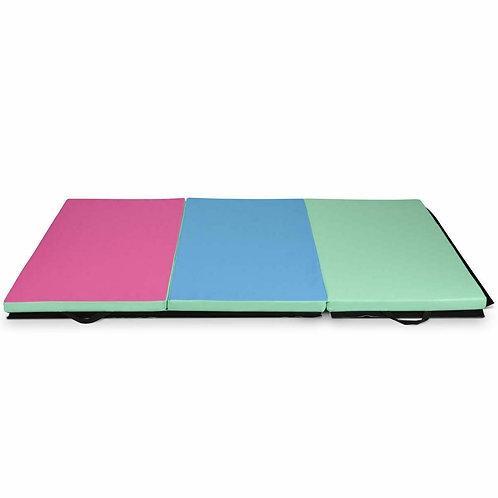 6' x 4' Tri-Fold Gymnastics Mat Thick Folding Panel-Multicolor