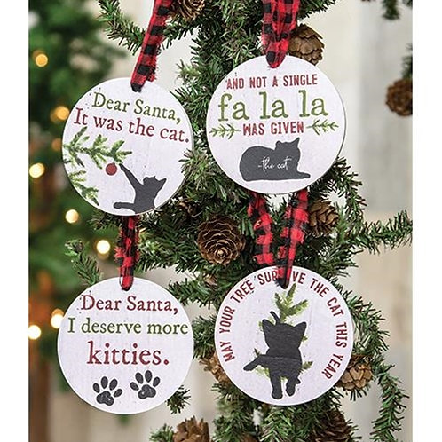 4/Set The Cat Gift Tags