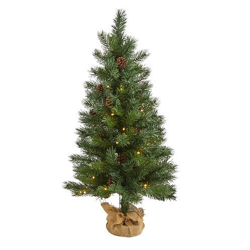 """3' Fraser Fir """"Natural Look"""" Artificial Christmas Tree"""