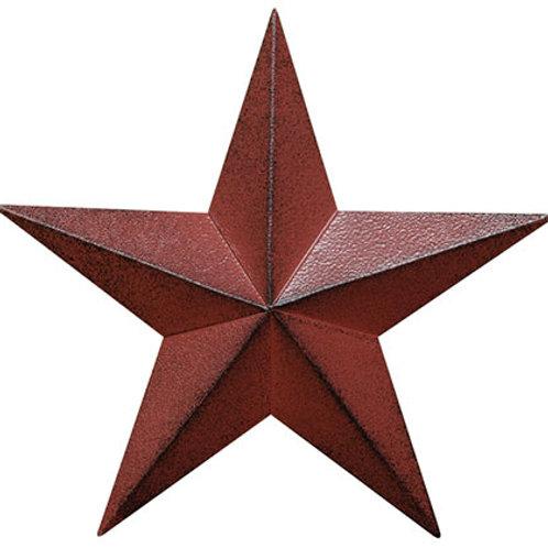 """Pack of 4 Burgundy Barn Star 5.5"""""""