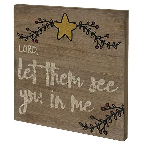 Pack of 2 *Lord Let Them Box Sign