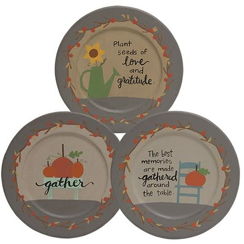 Pack of 2 Gathered Around the Table Plate 3 asstd.