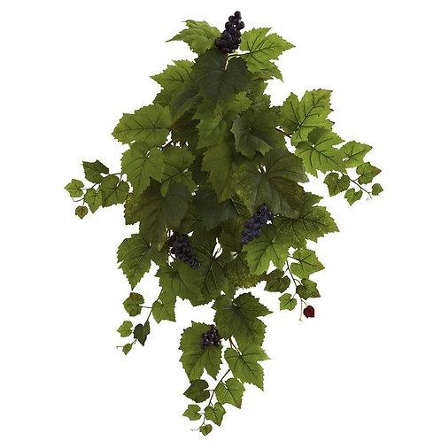 "31"" Grape Hanging Leaf Artificial Plant (Set of 2)"