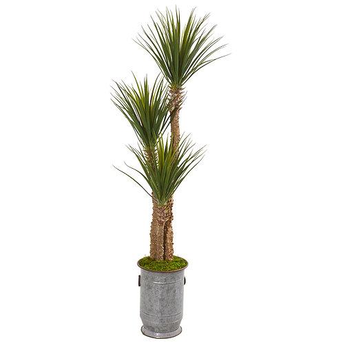 "65"" Yucca Artificial Tree in Metal Planter"
