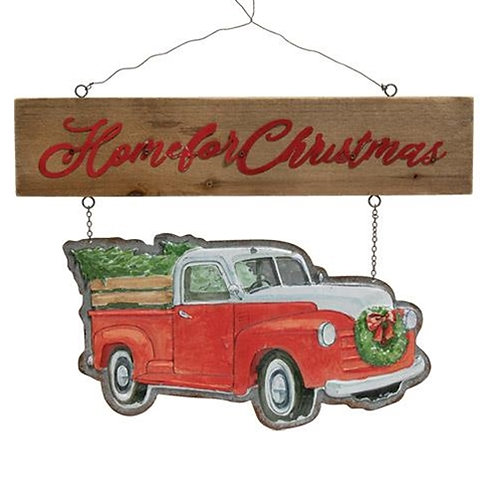 Home for Christmas Truck Hanger