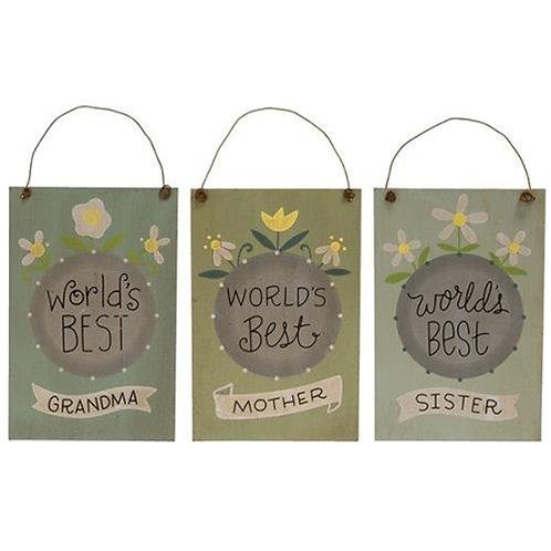 World's Best Mother Ornament 3 Asstd.