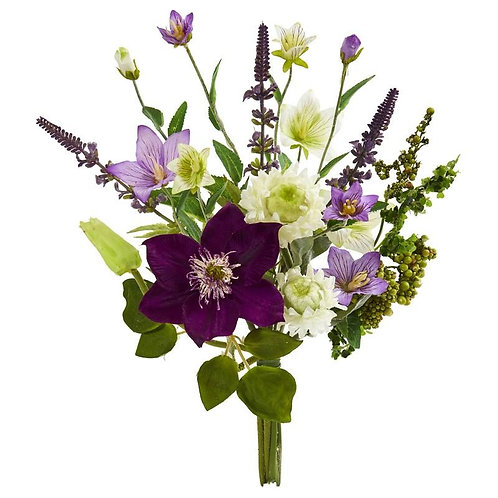 "16""  Mixed Artificial Flower Bouquet (Set of 4)"