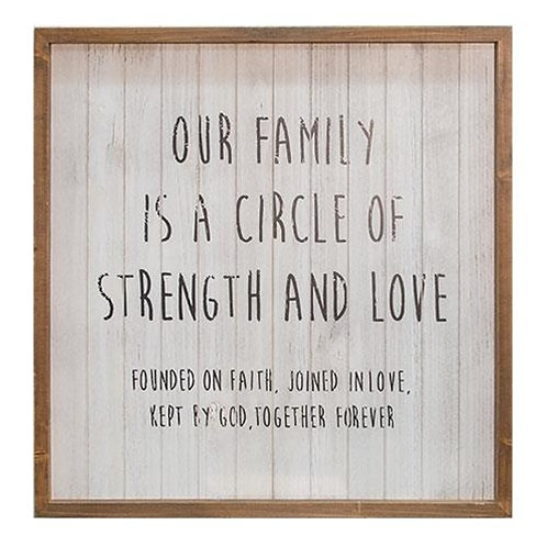*Our Family Framed Sign