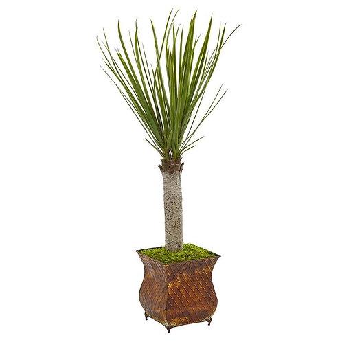 "40""  Yucca Artificial Tree in Metal Planter"