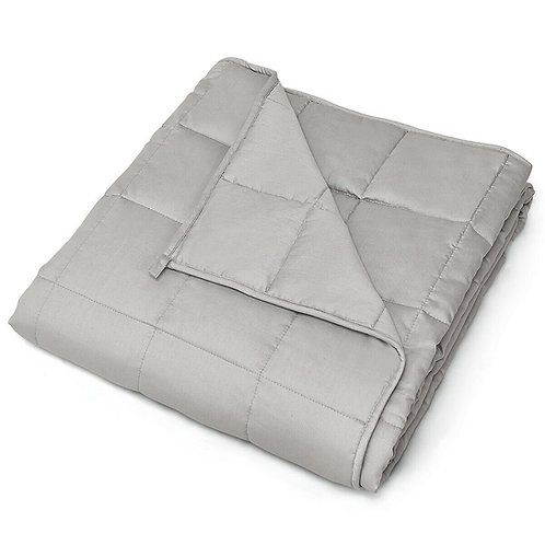 """20 lbs 60"""" x 80"""" 100% Cotton Weighted Blanket - Light Gray"""
