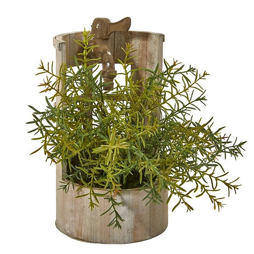 """12""""  Rosemary Artificial Plant in Faucet Planter"""